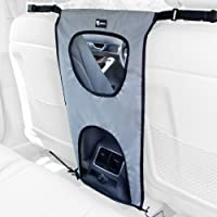 PETFECT Dog Car Back Seat Barrier - Lightweight, Durable & Perfect for Pets w/Upper Eye-Contact Net