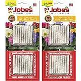 Jobe's 10-10-4 Fertilizer Spikes for Flowering Plants, Houseplant Indoor, Outdoor Plants Fertilizer Food Spikes, 50 Spikes (Pack of 2)