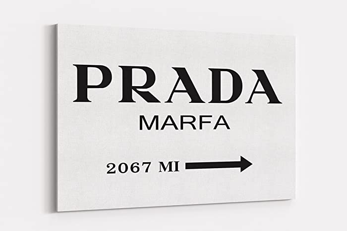 2c471f70d1a2 Amazon.com: Fashion wall pop art print - Illustration - Prada Marfa ...