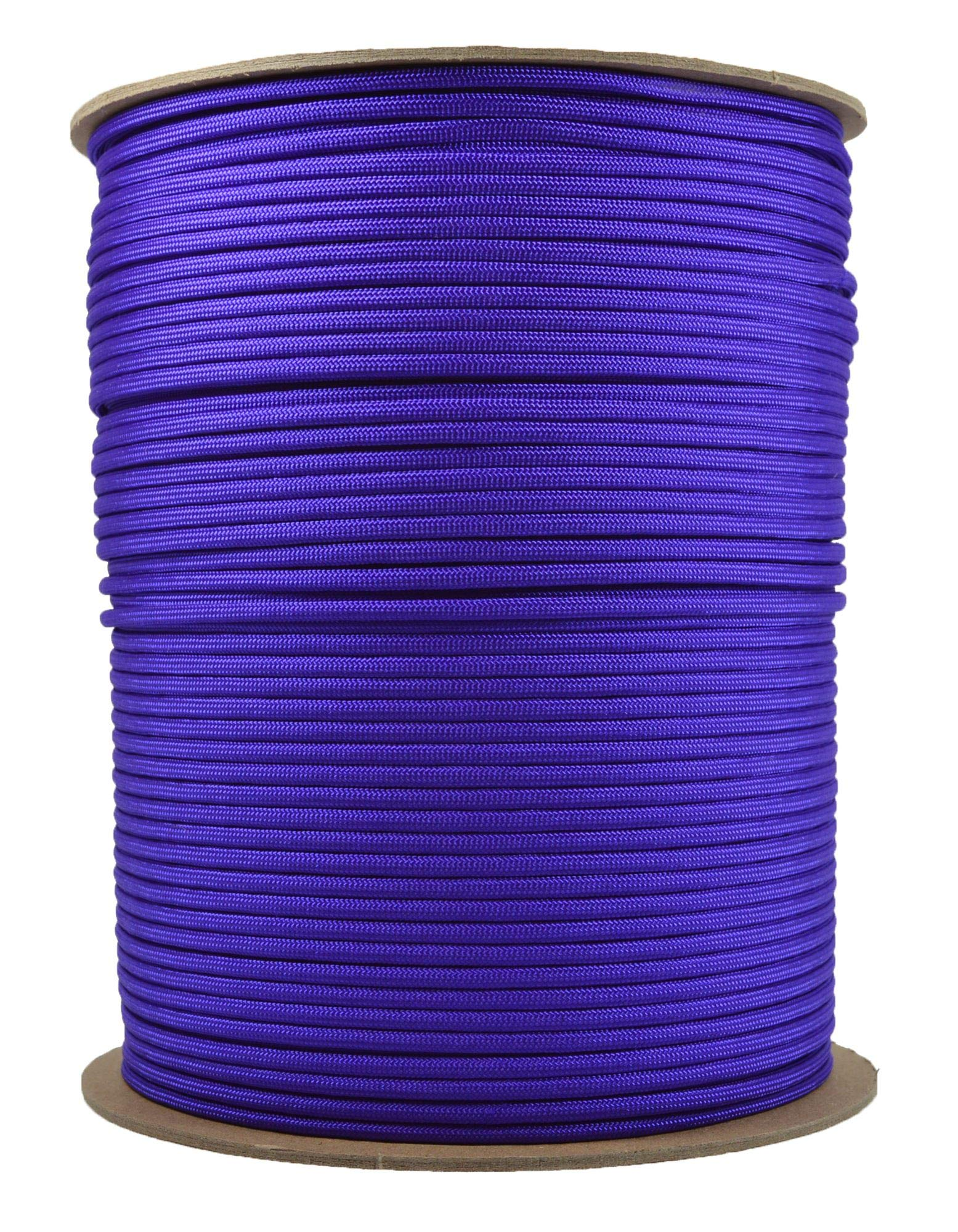 Acid Purple Mil-Spec Commercial Grade 550lb Type III Nylon Paracord - 1000 Foot Spool