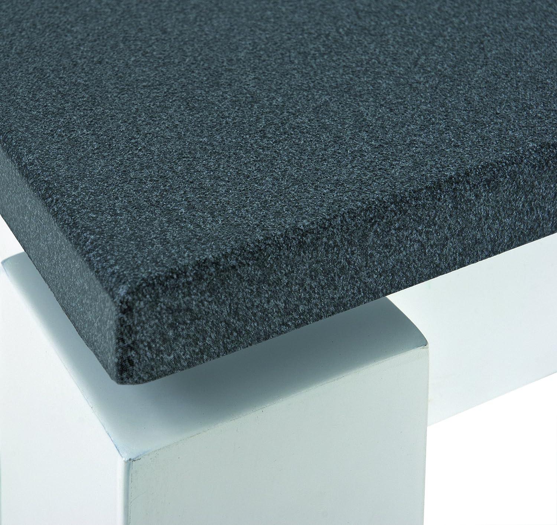 HAKU Furniture Set of 2 Tables, Metal, Granite Finish-White, 30x33x35 cm