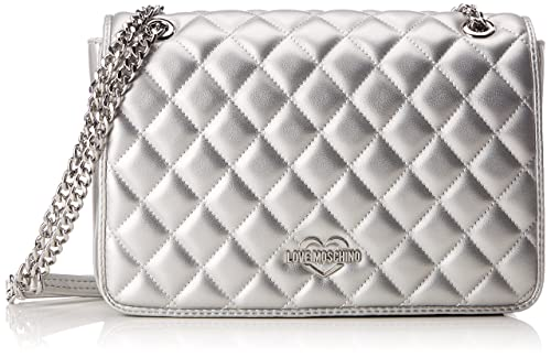 afb790f583 Love Moschino Borsa Quilted Metallic Pu Argento