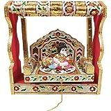 EtsiBitsi Beautiful Swing With Laddu Gopal Statue (Wood,Multicolor)