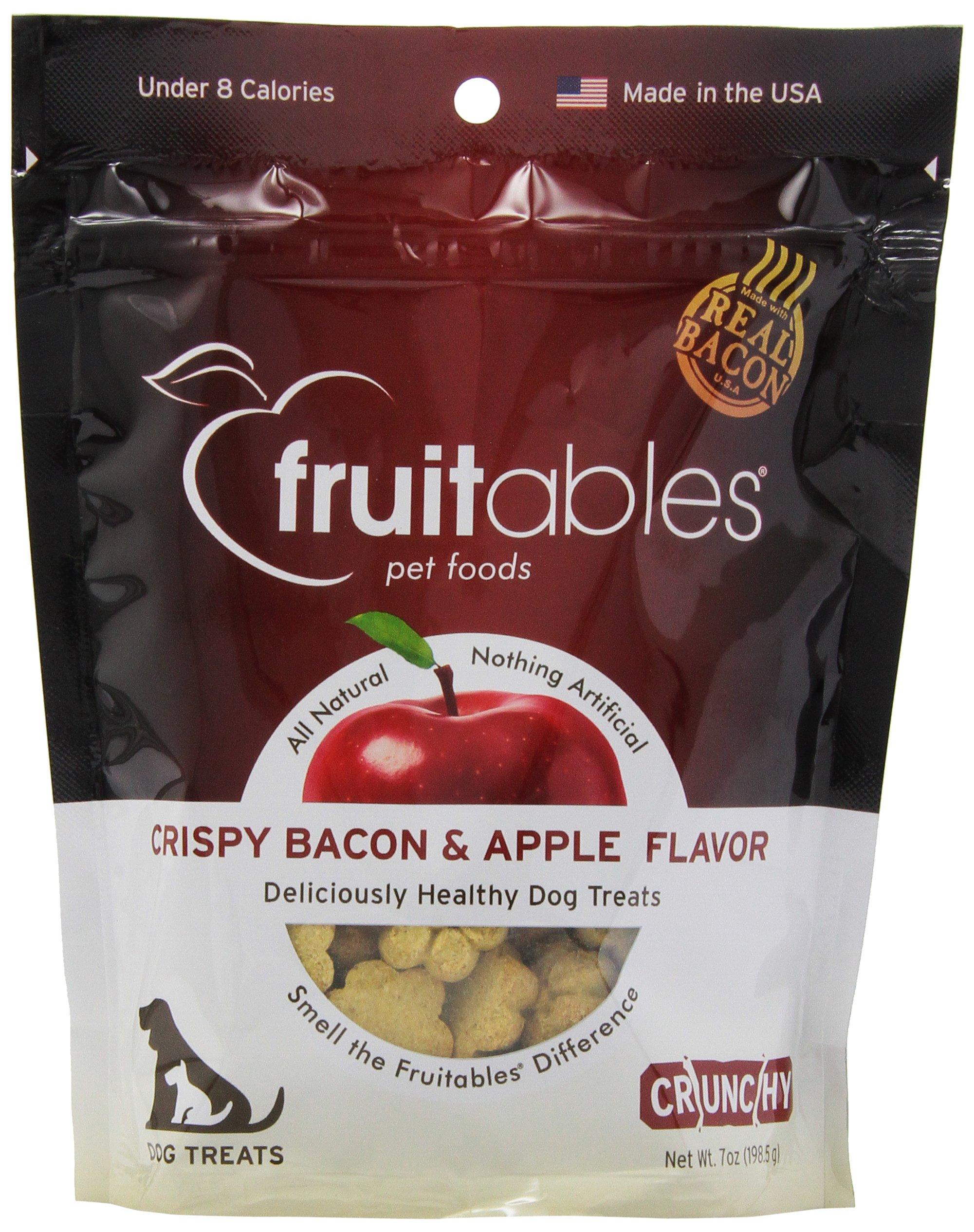Fruitables Crunchy Dog Treats Bacon & Apple 7 oz