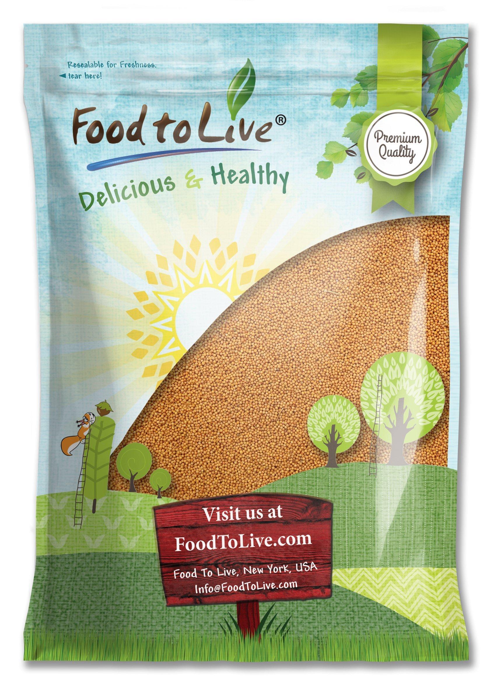 Yellow Mustard Seeds, 10 Pounds - Kosher, Raw, Vegan, Bulk by Food to Live