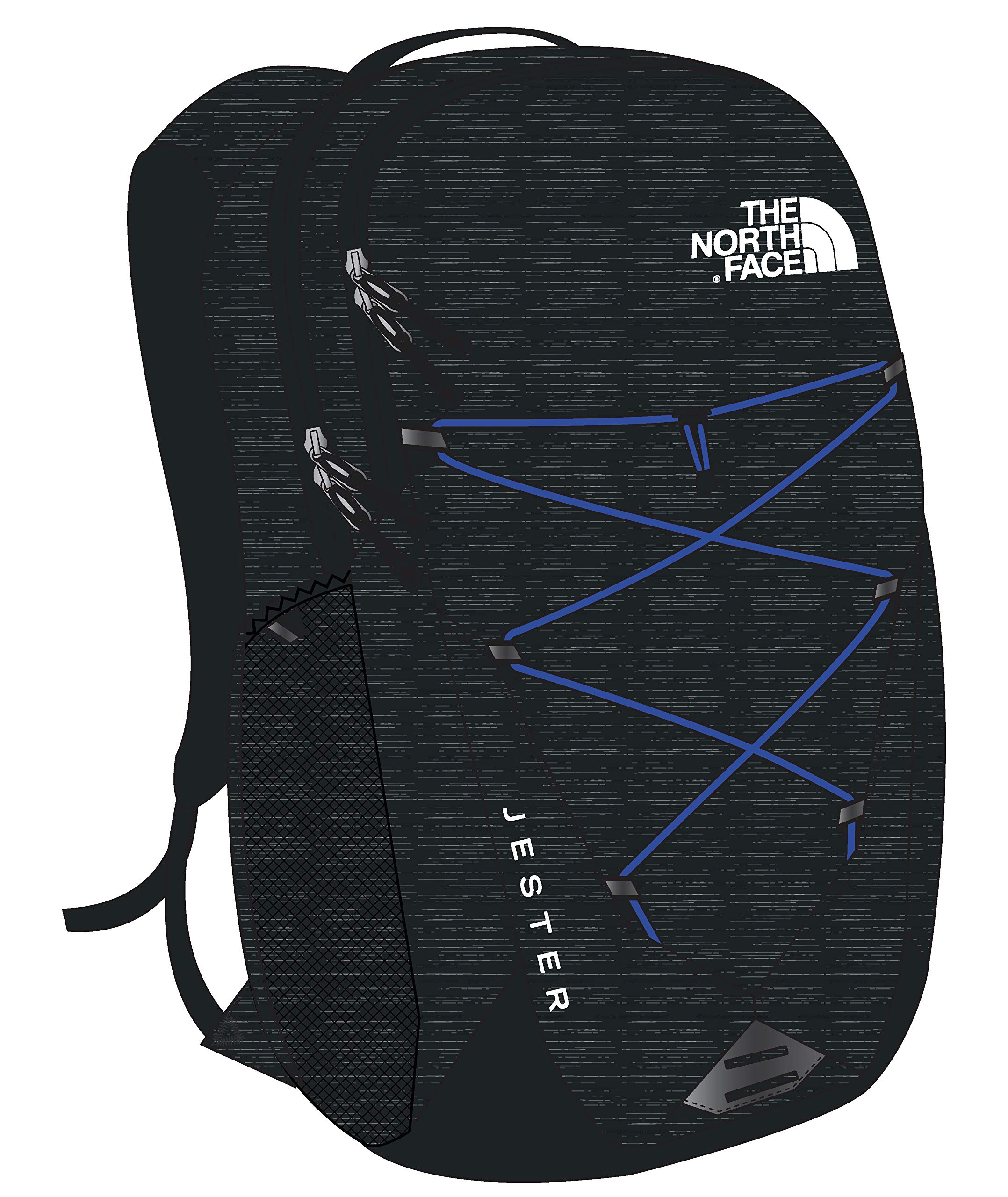 The North Face Jester Backpack, TNF Black Heather/TNF Blue by The North Face