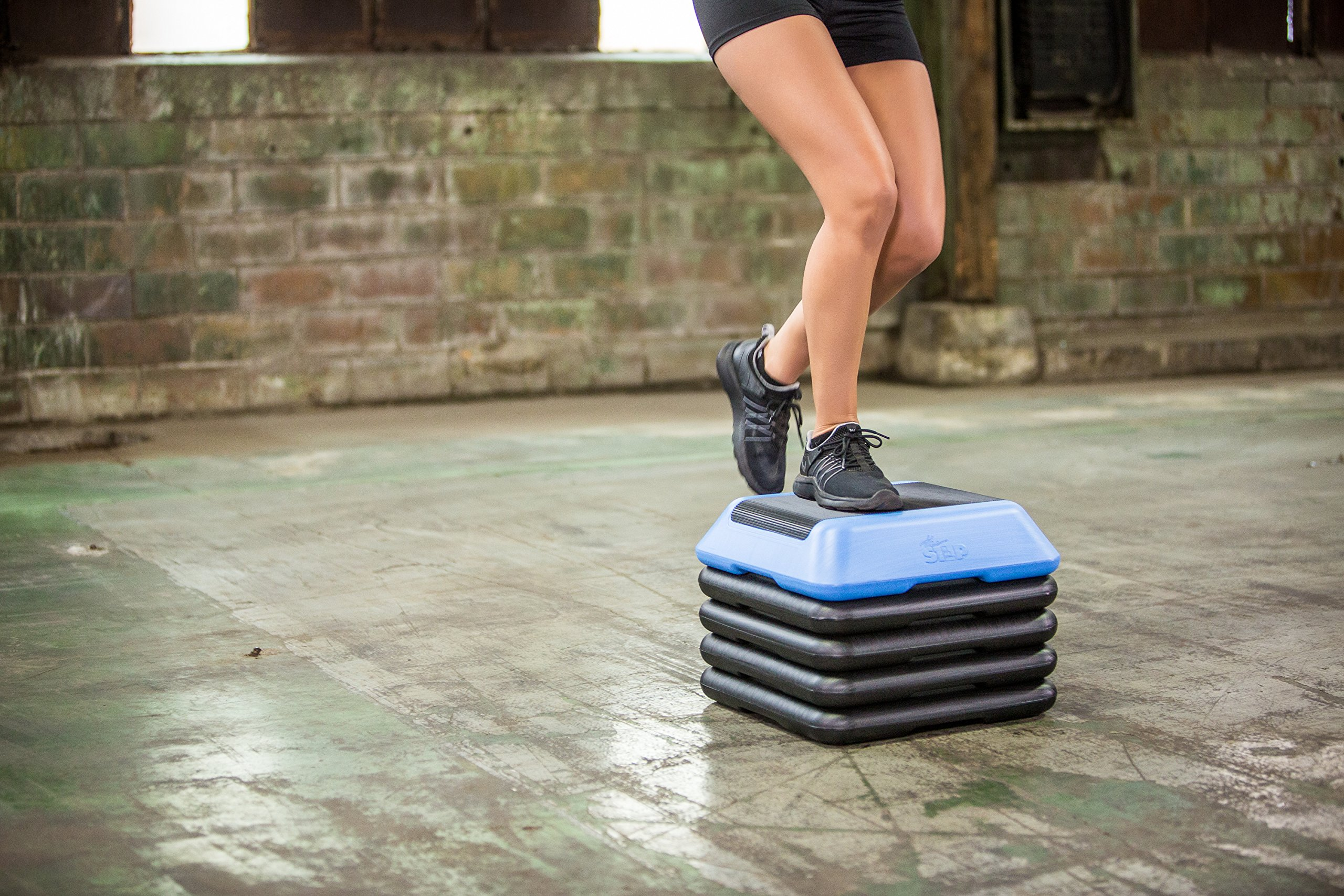 The Step High Step Aerobic Exercise Nonslip Platform Includes 4 Risers and Streaming Workout Videos by The Step (Image #8)