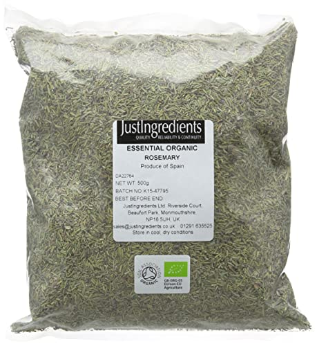 JustIngredients Essentials Organic Rosemary, 500g - Pack of 2