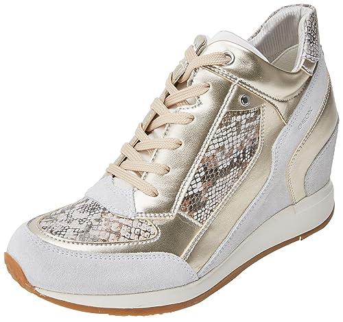 D Nydame a, Zapatillas Altas para Mujer, Marrón (Taupe/Chestnut), 39 EU Geox