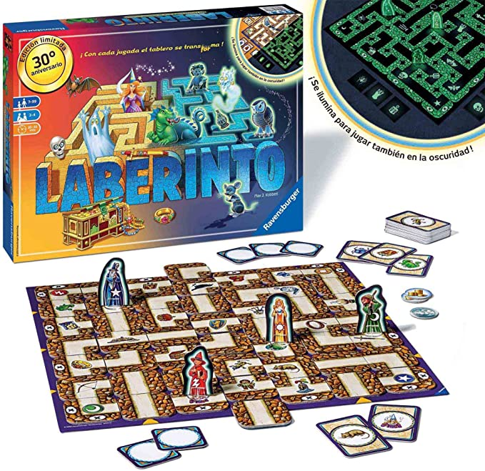 Ravensburger- Juego Laberinto, Glow in The Dark, Miscelanea (26692 ...