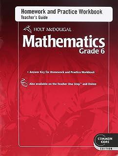 Holt McDougal Mathematics: Homework and Practice Workbook