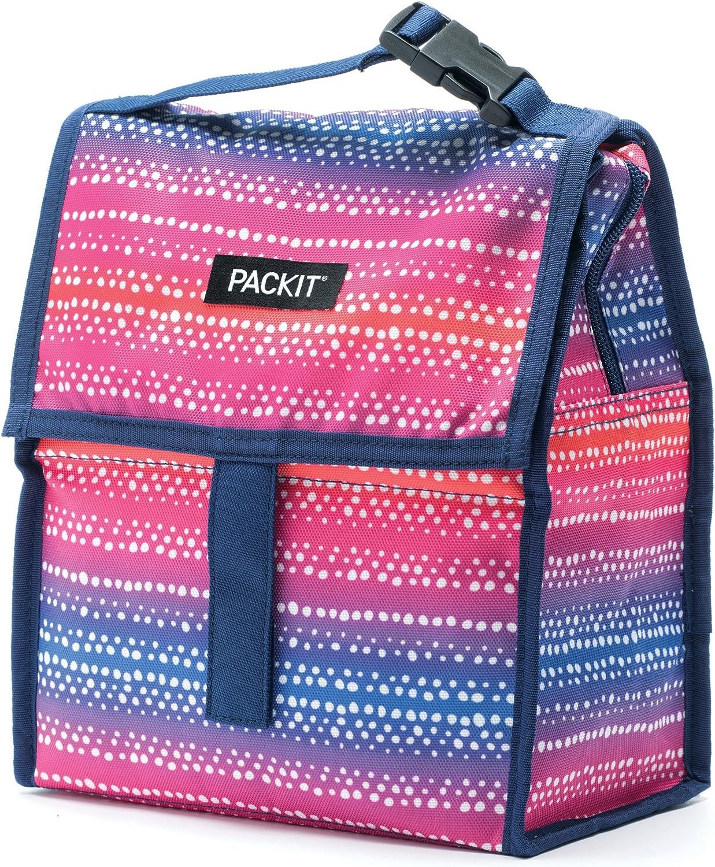 Congelador personal de PackIt, color negro, tela, Batik Ombre, Talla única: Amazon.es: Hogar