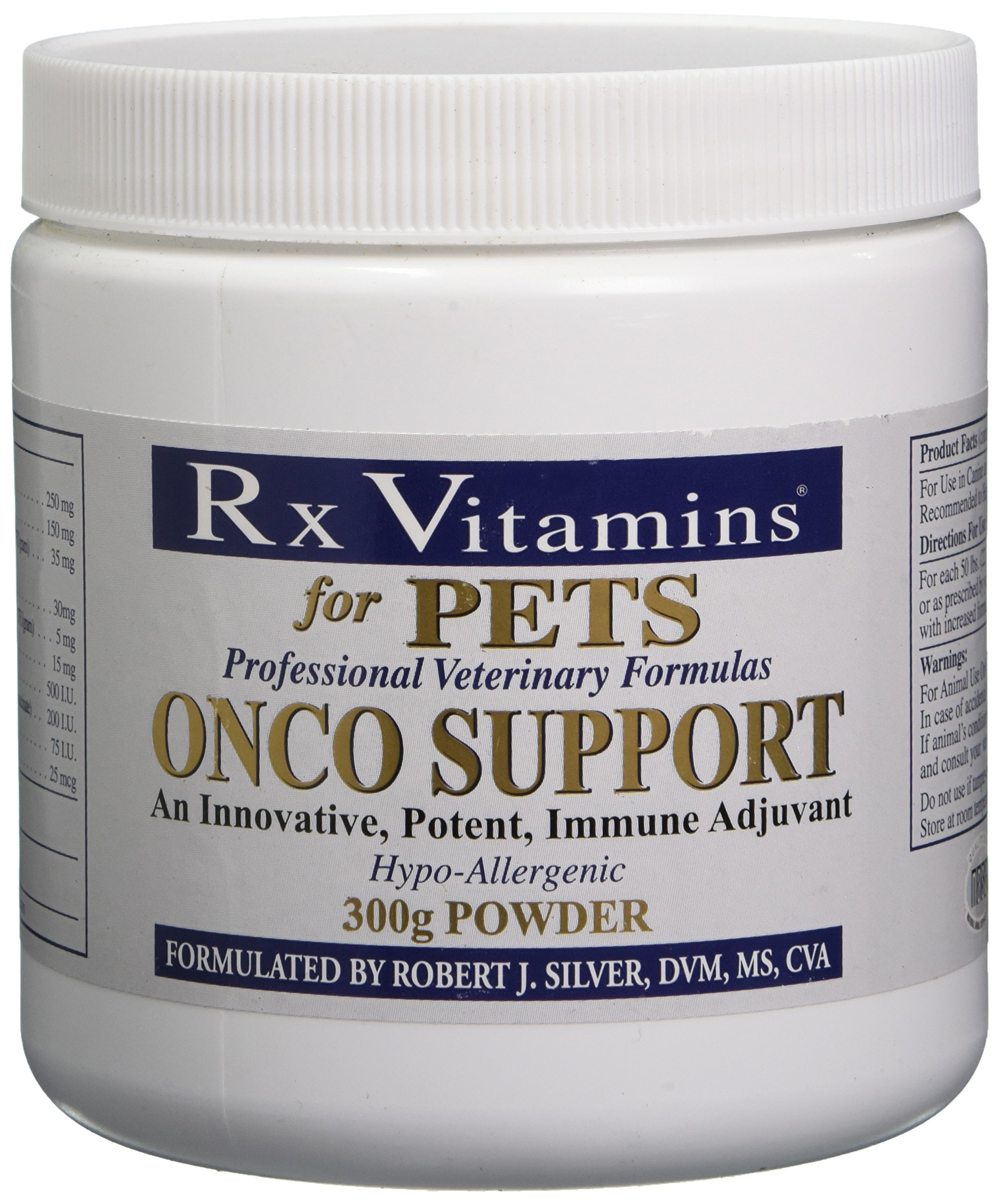 Rx Vitamins for Pets Onco Support for Dogs & Cats - Immune System Support - Veterinarian Formula - Powder 300g by Rx Vitamins