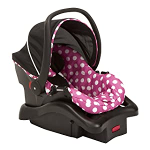 Disney Baby Minnie Mouse Light 'n Comfy 22 Luxe Infant Car Seat