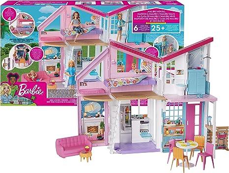 Barbie- La Nuova Casa di Malibu, Playset Richiudibile su Due Piani