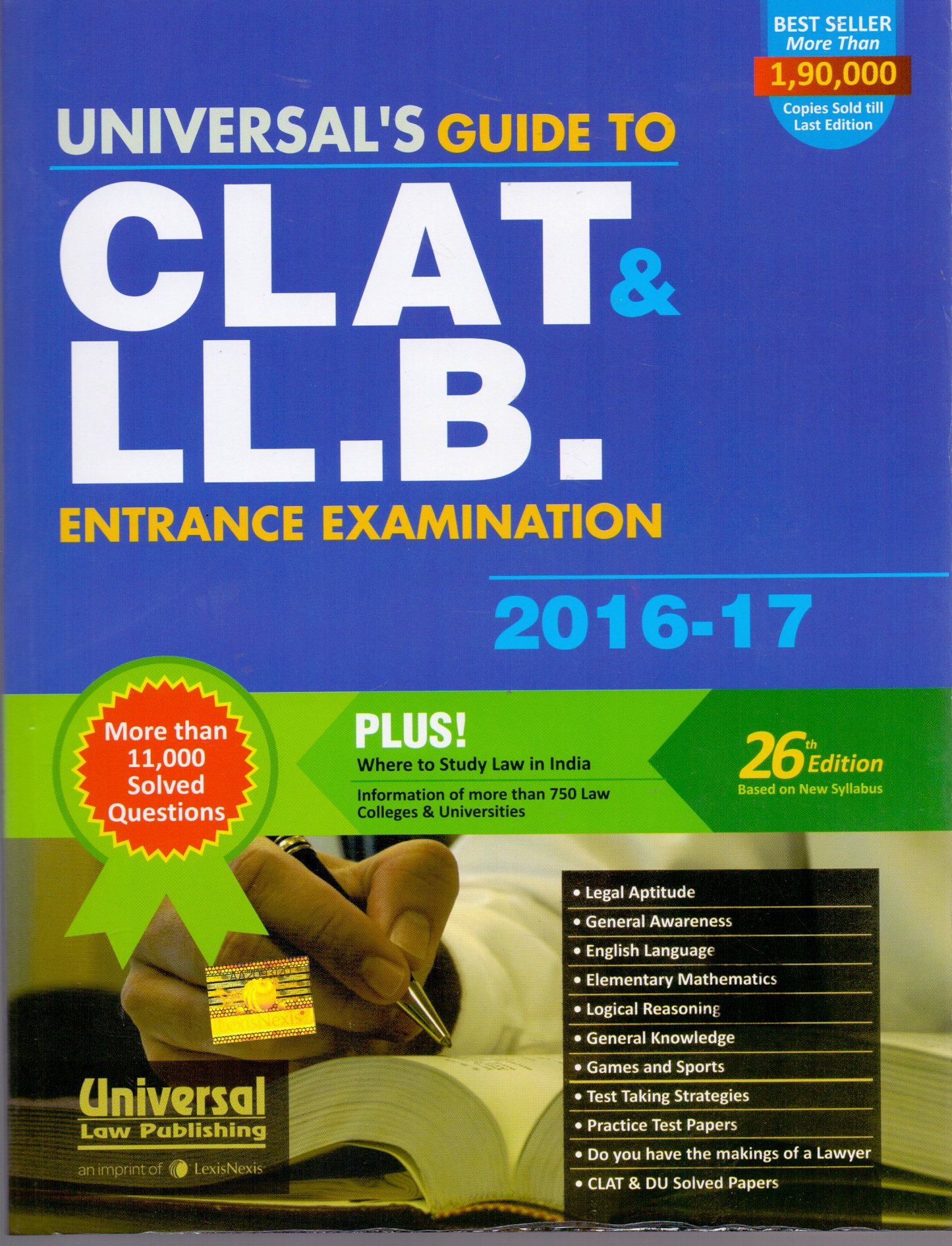 Guide to CLAT & LL.B. Entrance Examination 2016-17: Amazon.in: Universal's:  Books