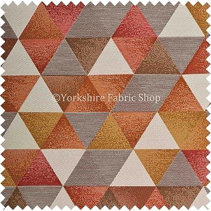Yorkshire Fabric Shop Exclusiva Tela patrón geométrico Color ...