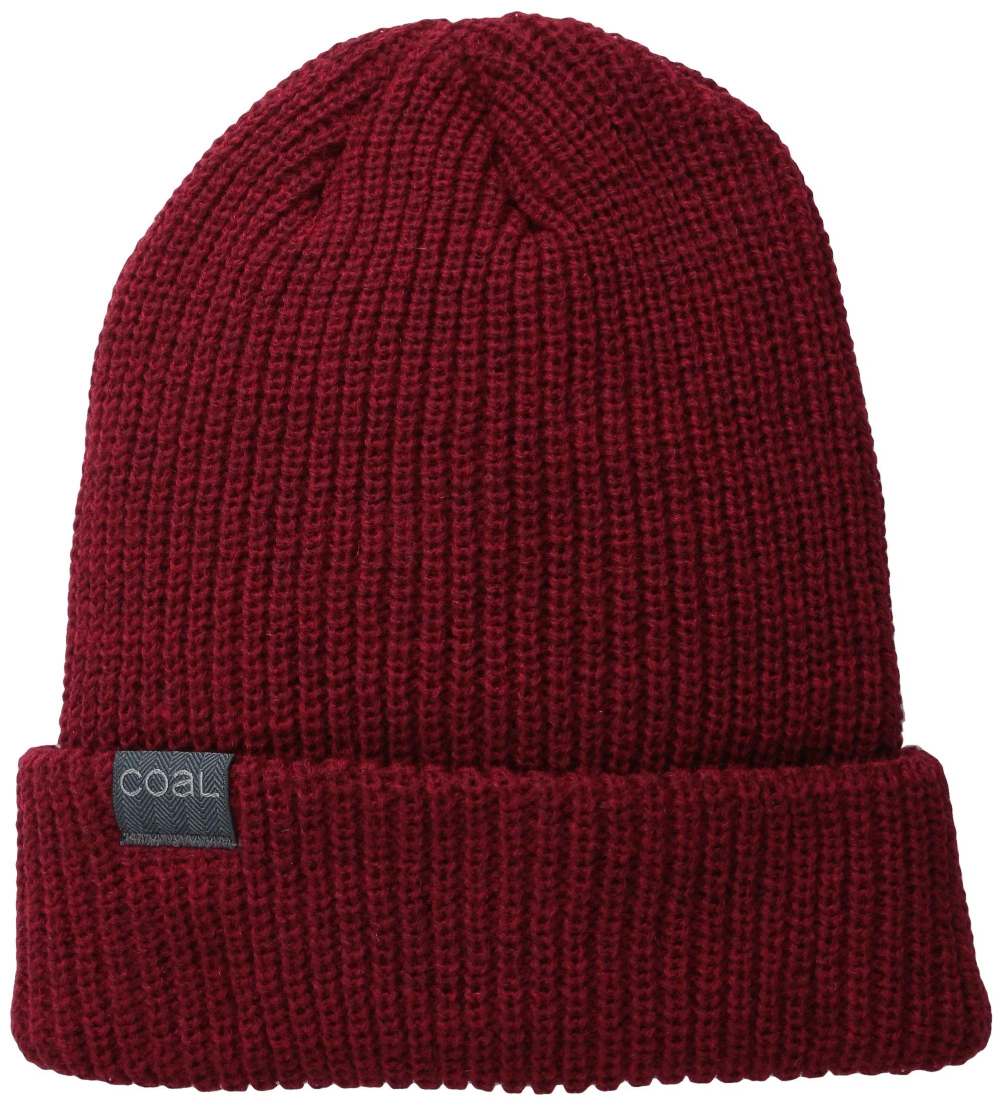 The Stanley Fine Knit Beanie Hat, Dark Heather Red, One Size
