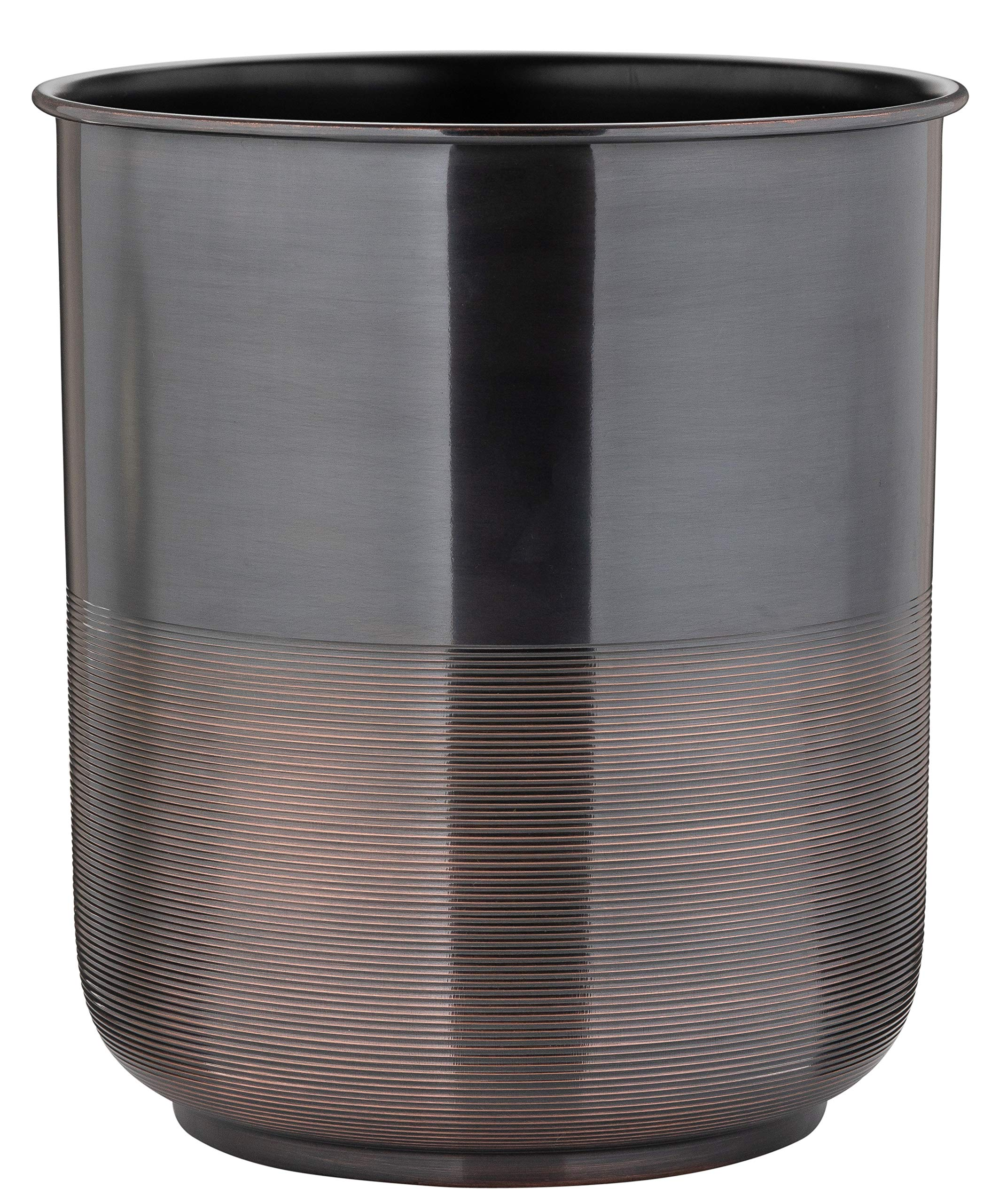 Buffalo Brand Trading Company, Heavyweight Brass, Oil Rubbed Bronze Finish, Wastebasket, 8 Inches by 9.5 Inches