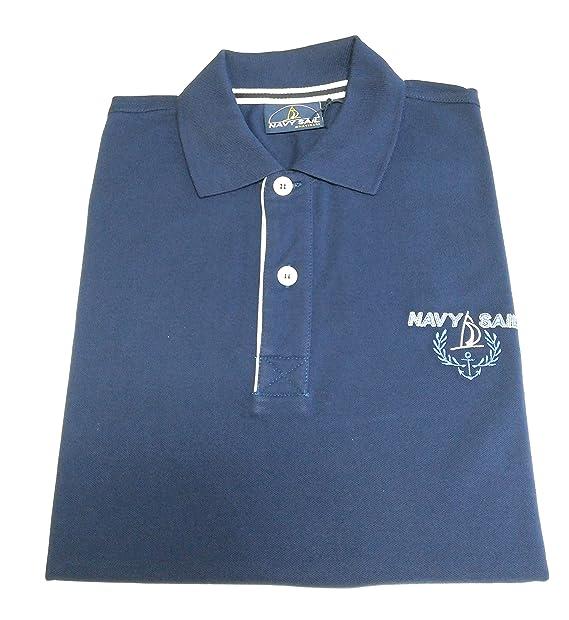 134890ca7b Navigare Maglia Polo Navy Sail by Taglia M - Mezza Manica 100% Cotone  SPEDIZIONE Gratuita