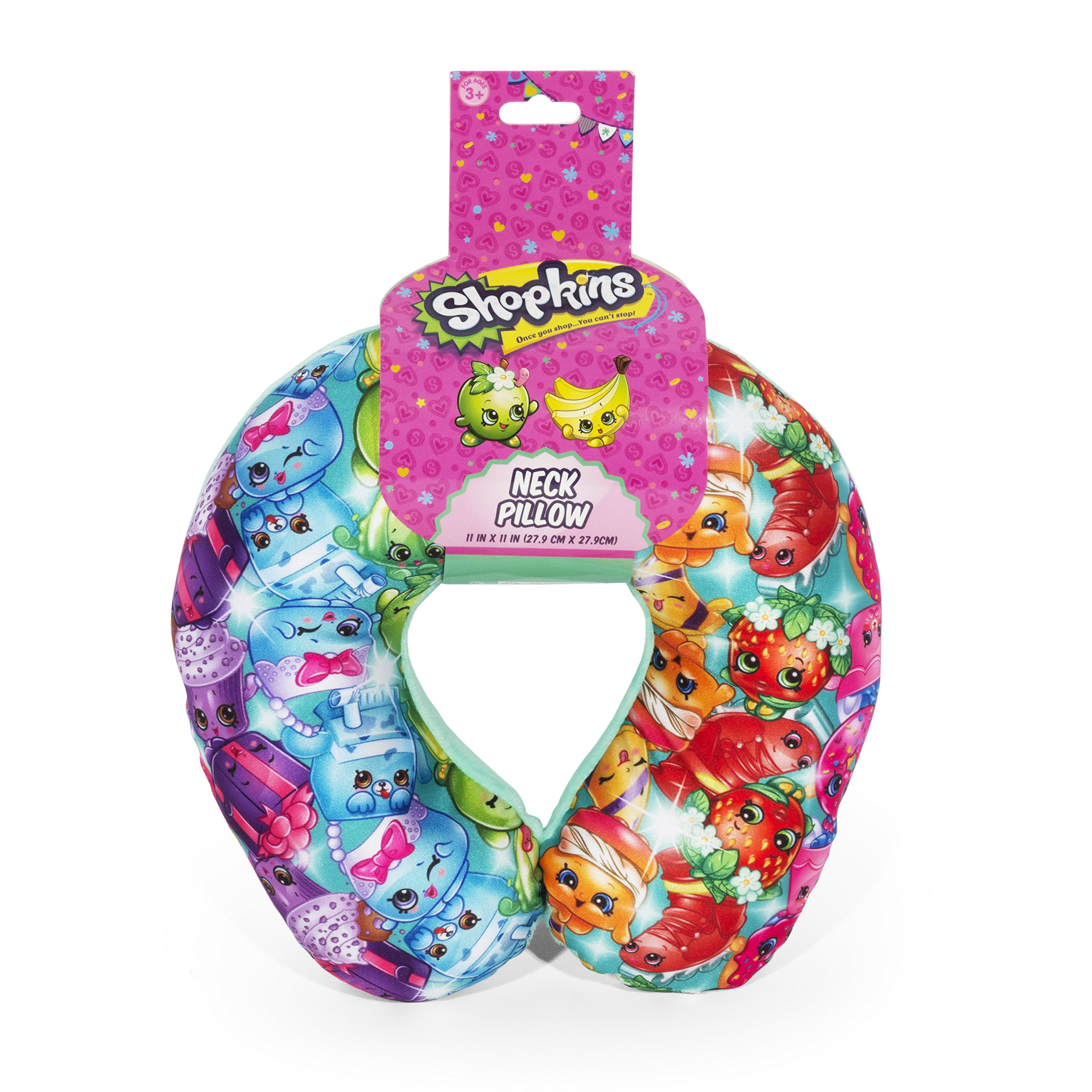 Shopkins Rainbow Multi Colored Travel Neck Pillow For Kids. by FAB Starpoint (Image #1)