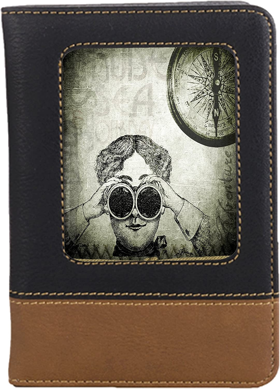 Steampunk Art Leatherette Passport Wallet Style Case Cover For Travel