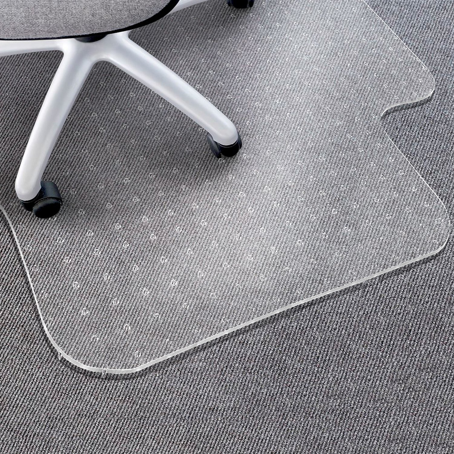 Matladin Heavy Duty PVC Chair Mat, 1/8 inches Thick Transparent Carpet Chair Mat, for Low Standard Medium Flooring Protector for Office by Matladin