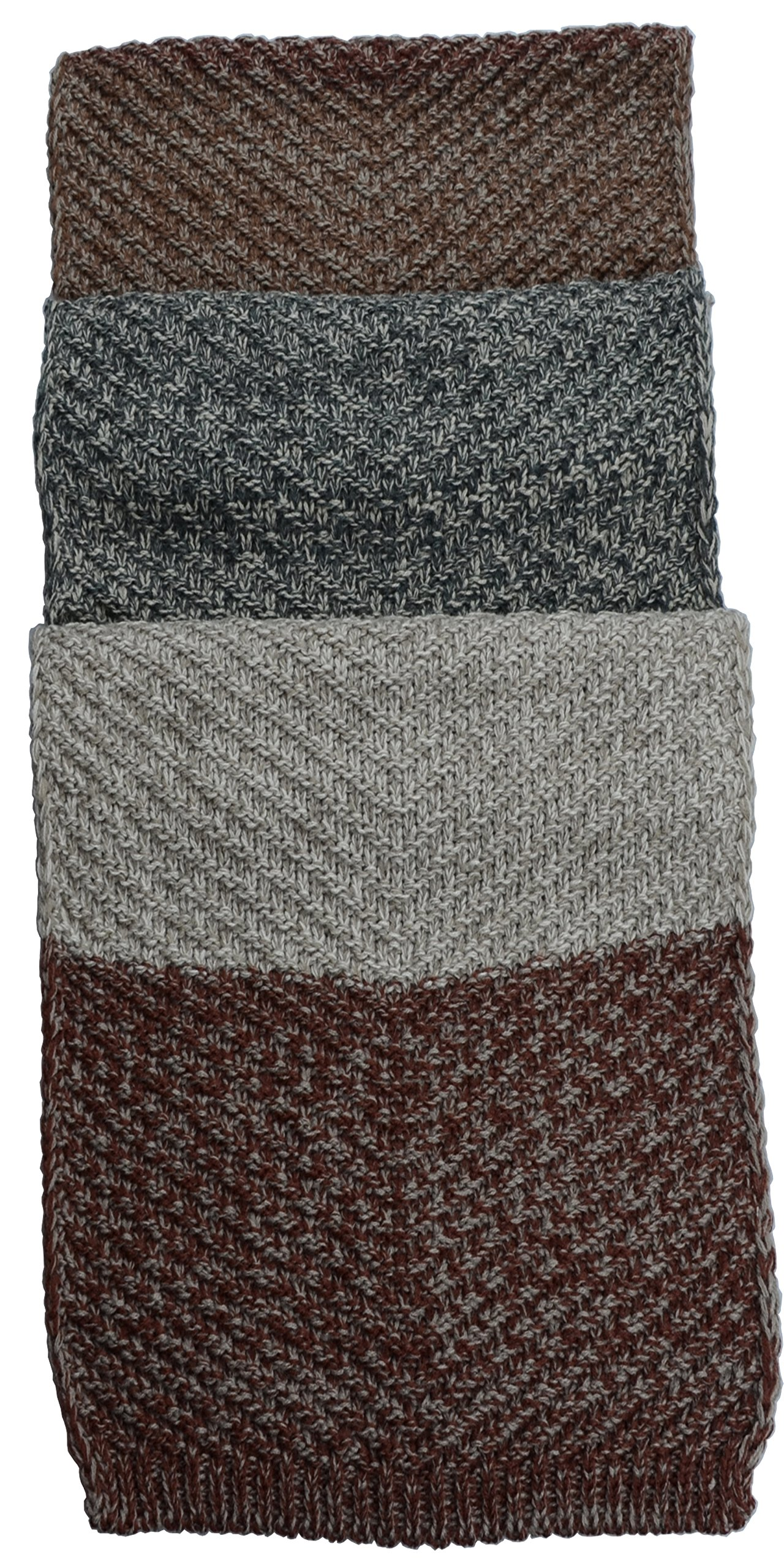 Women Men Winter Thick Cable Knit Wrap Chunky Warm Scarf All Colors Cont Brown K