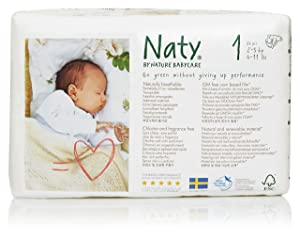 Naty by Nature Babycare Eco-Friendly Premium Disposable Diapers