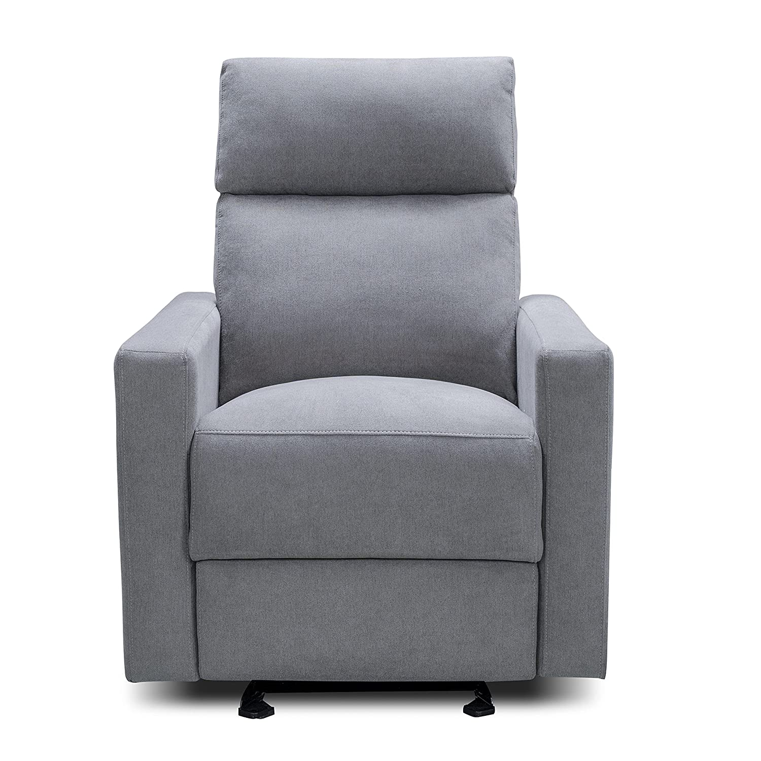 The Glider by Nurture& | Premium Power Recliner Nursery Glider Chair with Adjustable Head Support | Designed with a Thoughtful Combination of Function and Comfort | Built-in USB Charger (Gray)