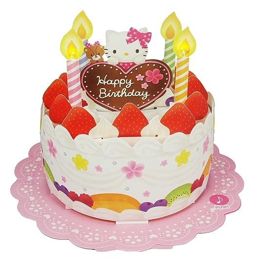 Hello Kitty Fresa tarta de cumpleaños con luces y melodía ...