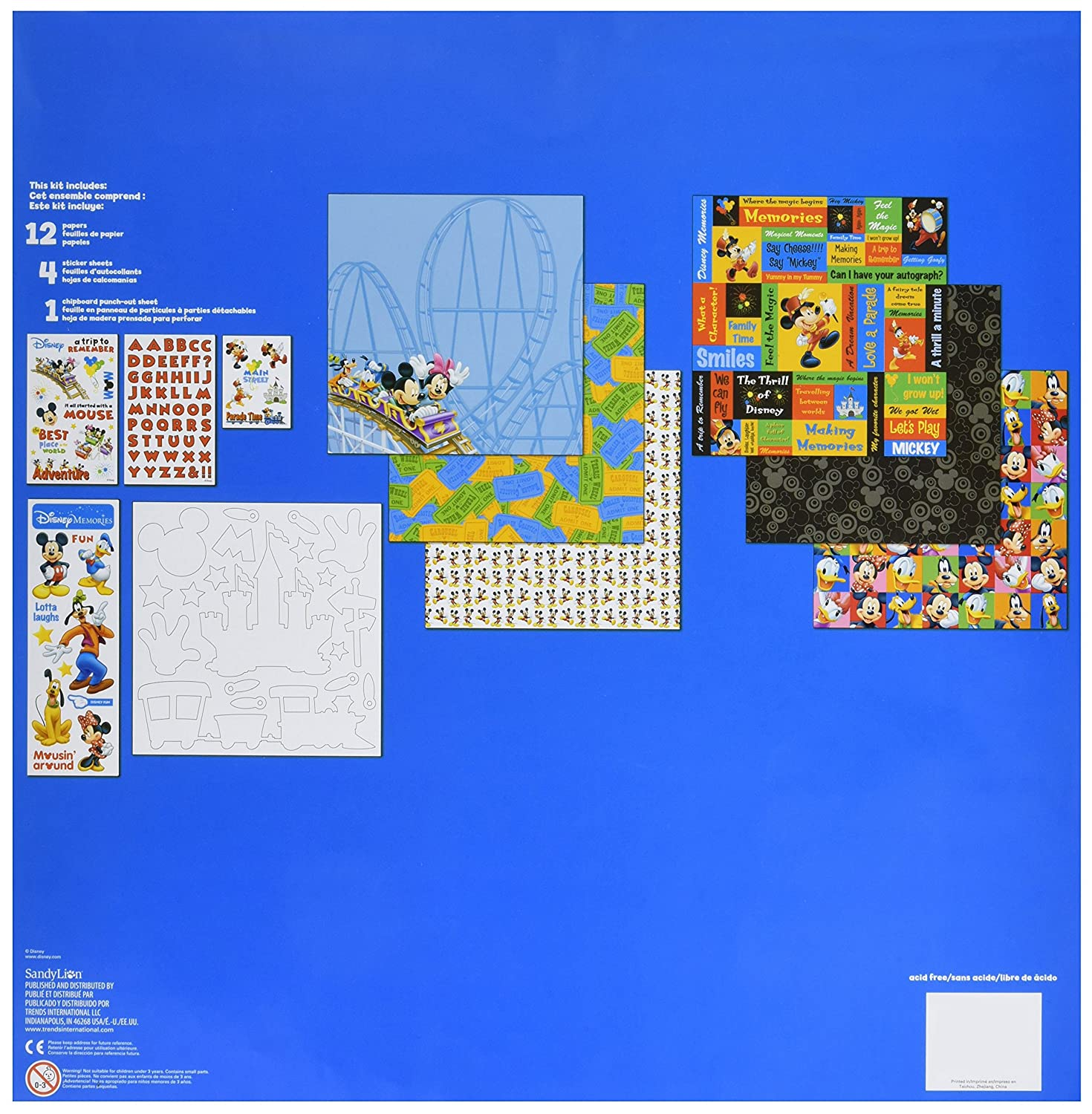 Trends International Mickey 12 X 12 Page Kit