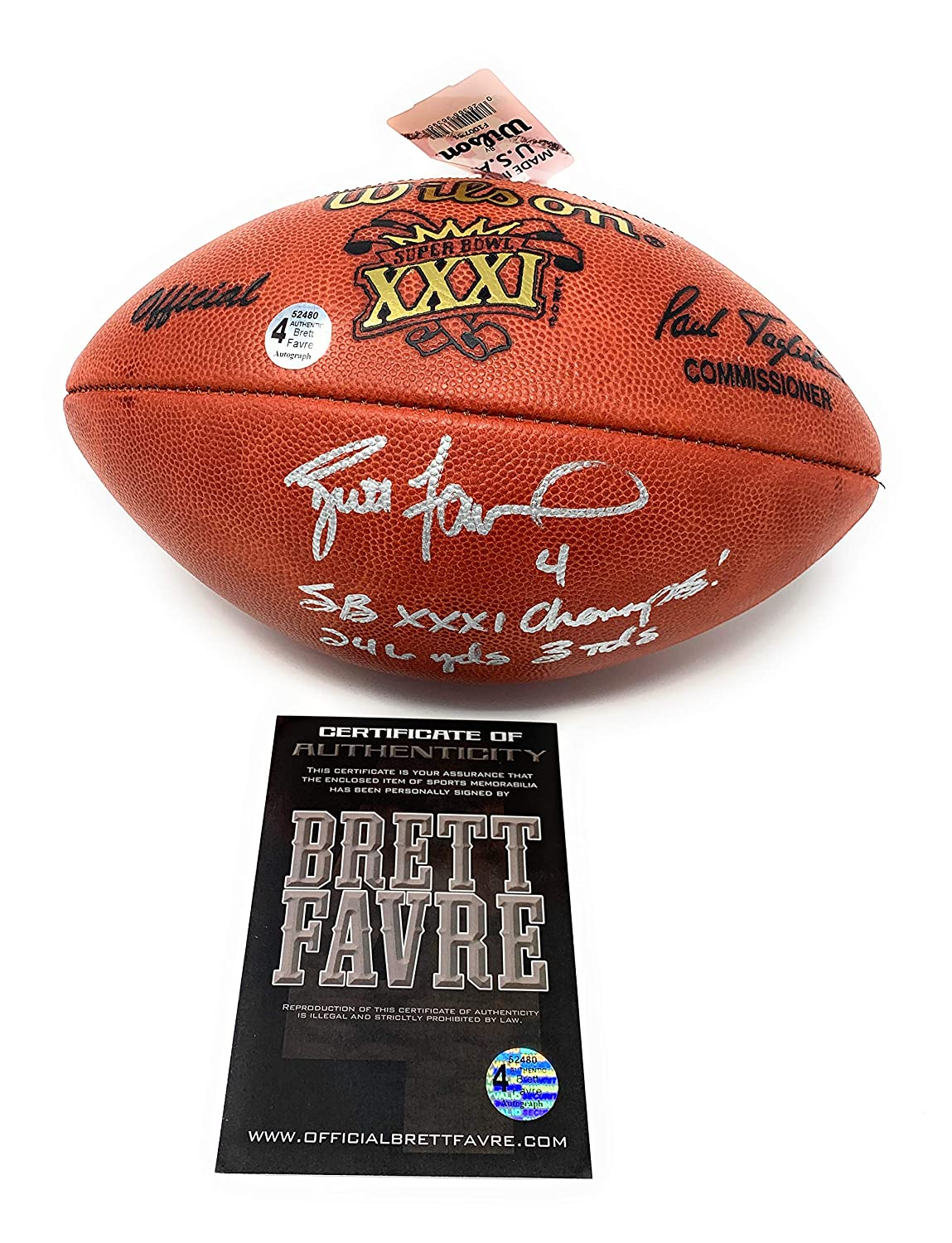 new arrival d189f 346cd Brett Favre Green Bay Packers Signed Autograph Super Bowl ...