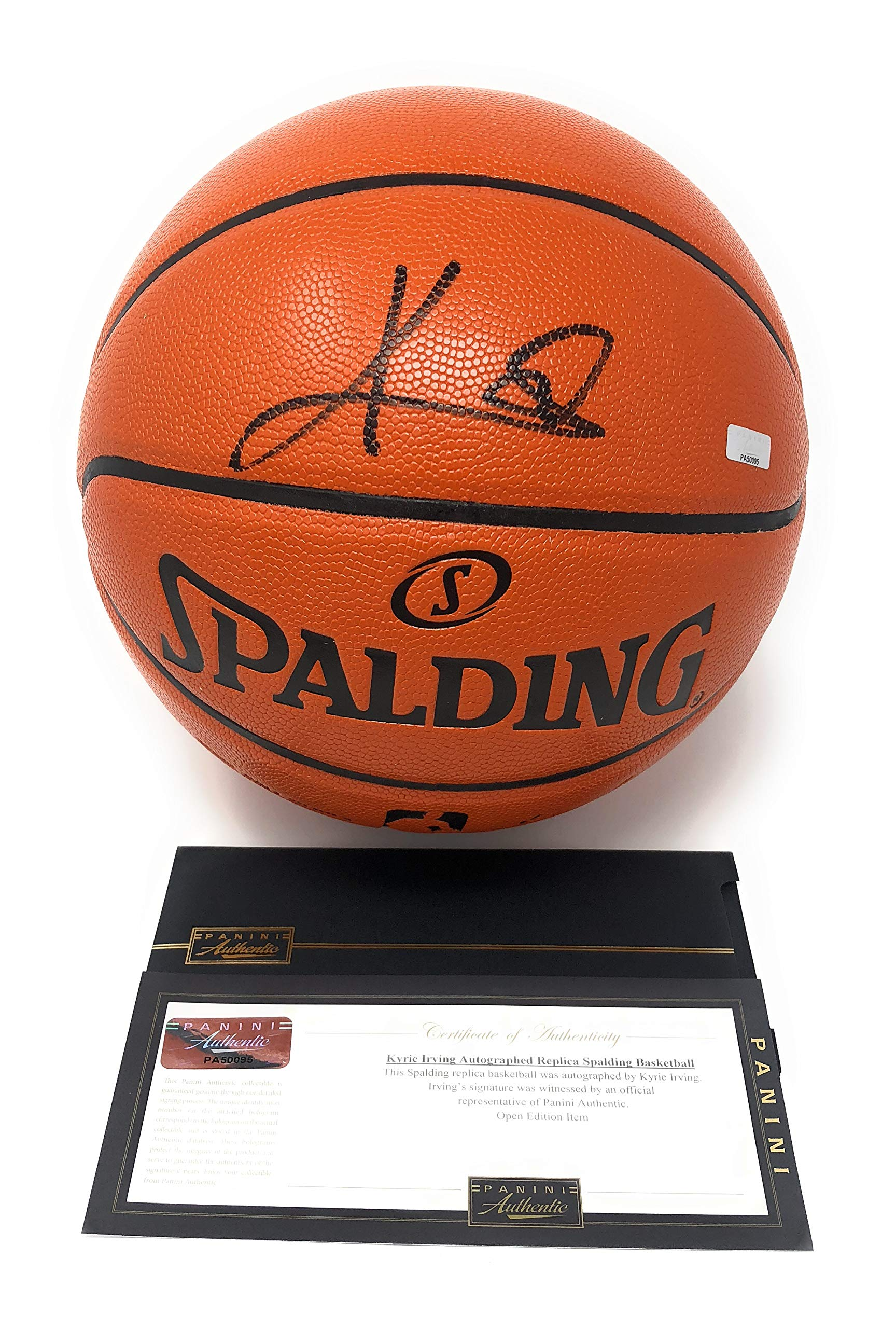Kyrie Irving Boston Celtics Signed Autograph NBA Game Basketball Black Ink Panini Authentic Certified
