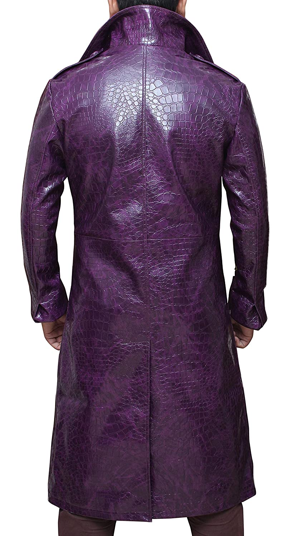 Joker Jacket | Purple Suicide Squad Trench Coat at Amazon Men's ...