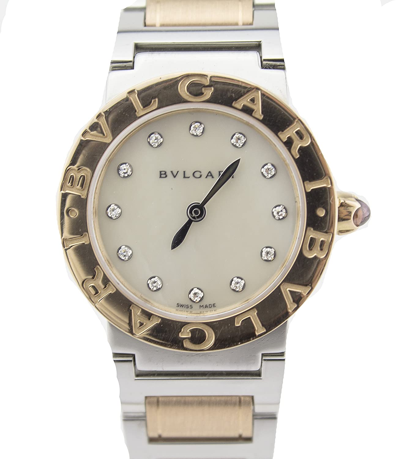 Amazon.com: Bvlgari 26MM Bvlgari Bvlgari 18K Rose Gold & Steel Watch BB33SLD (Certified Pre-Owned): Bvlgari: Watches