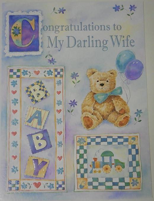 Felicidades a Mi Darling esposa Tarjeta de felicitación grandes ...