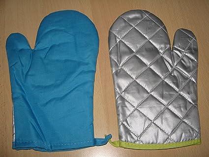 Guantes para barbacoa/pinzas protectoras de/guante para el horno con teflón-revestimiento