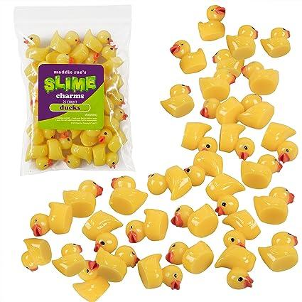 amazon com maddie rae s slime charms ducks 25 pcs of slime beads