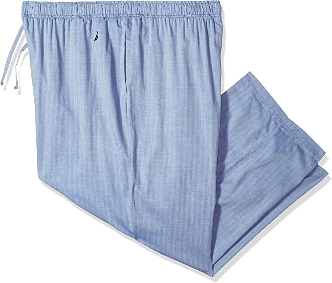 Nautica Mens Teal and Navy Plaid Short with Knit Waistband