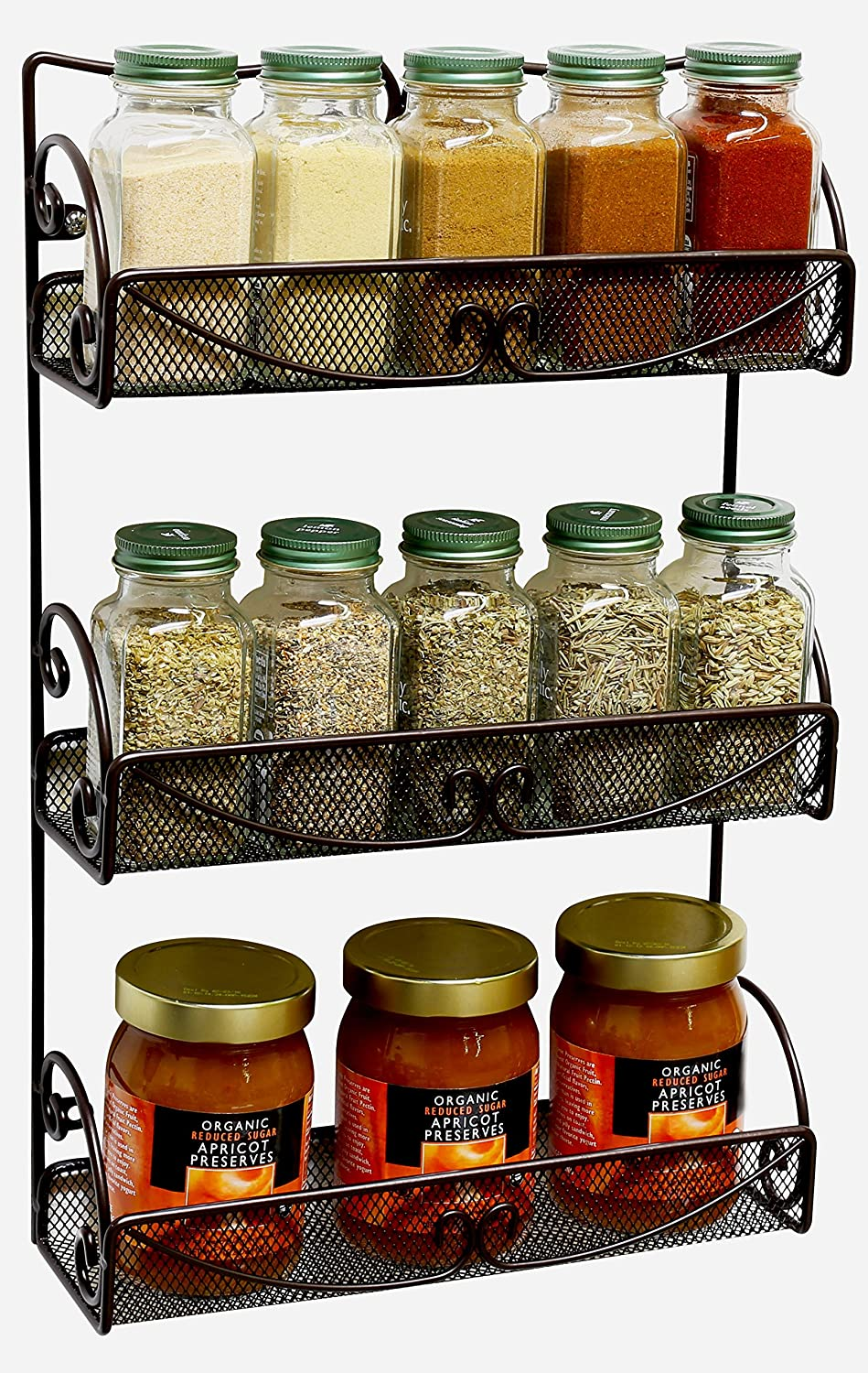 kitchen spice organizers spice rack 3 tier organizer kitchen wall mounted 3086