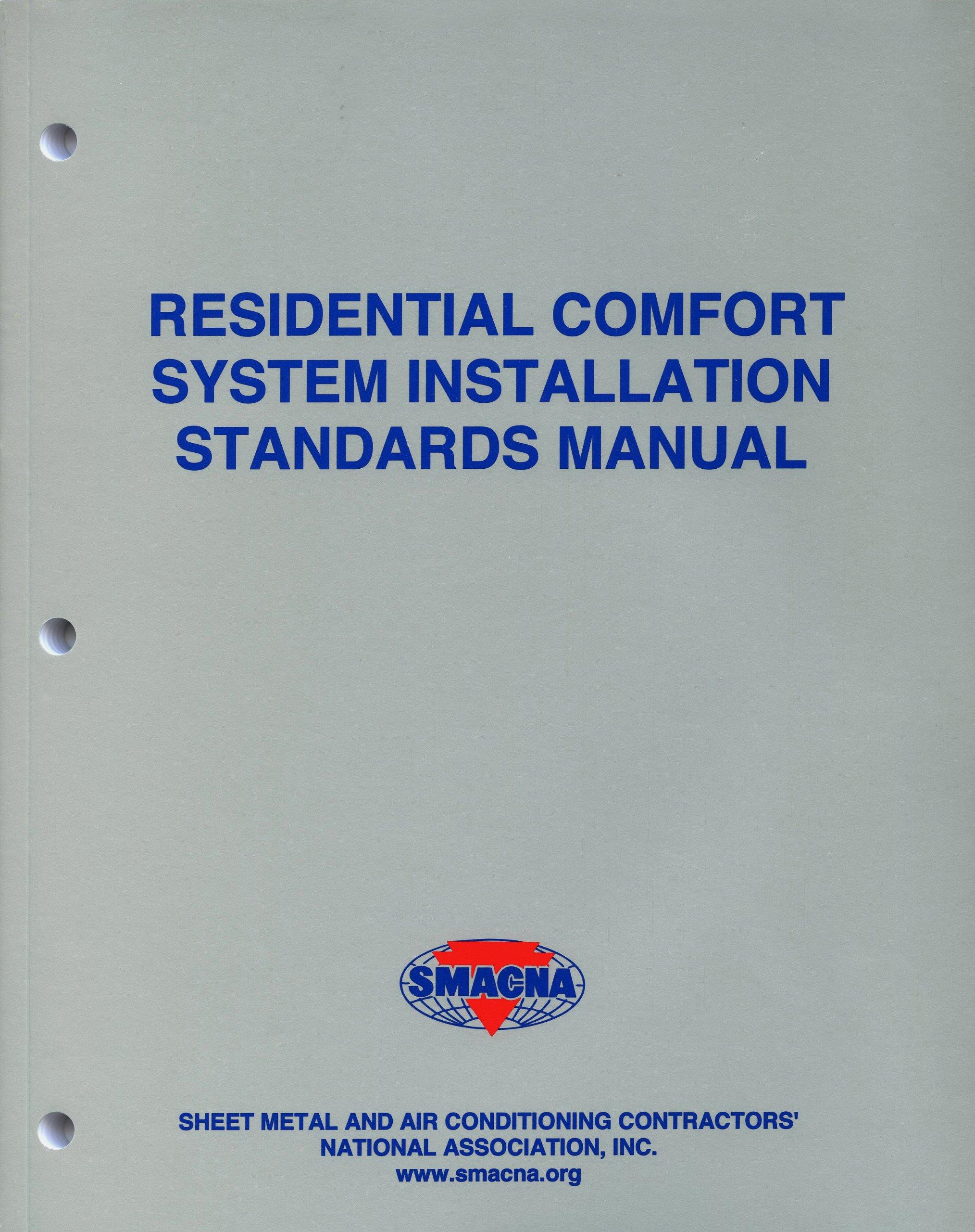 residential comfort system installation standards manual smacna rh amazon com RV Toilets Installation Diagrams Installation Guide