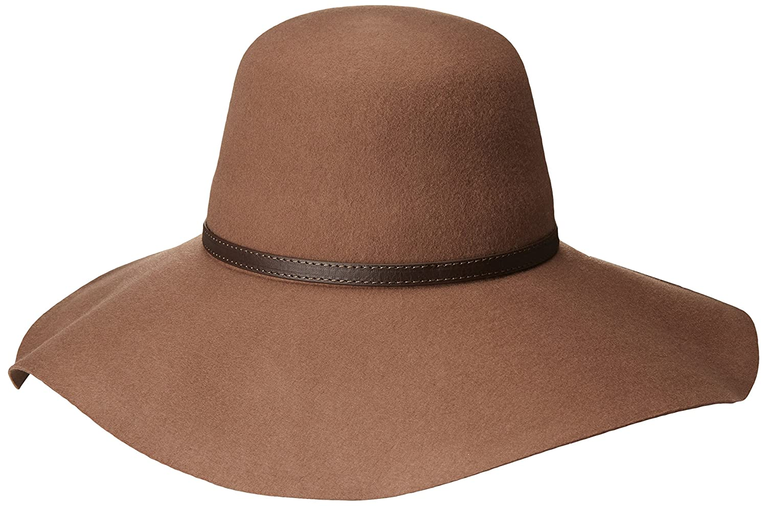 43d60a0a Goorin Bros. Women's Mia Wide Brim Floppy Hat with Faux Leather Band at  Amazon Women's Clothing store:
