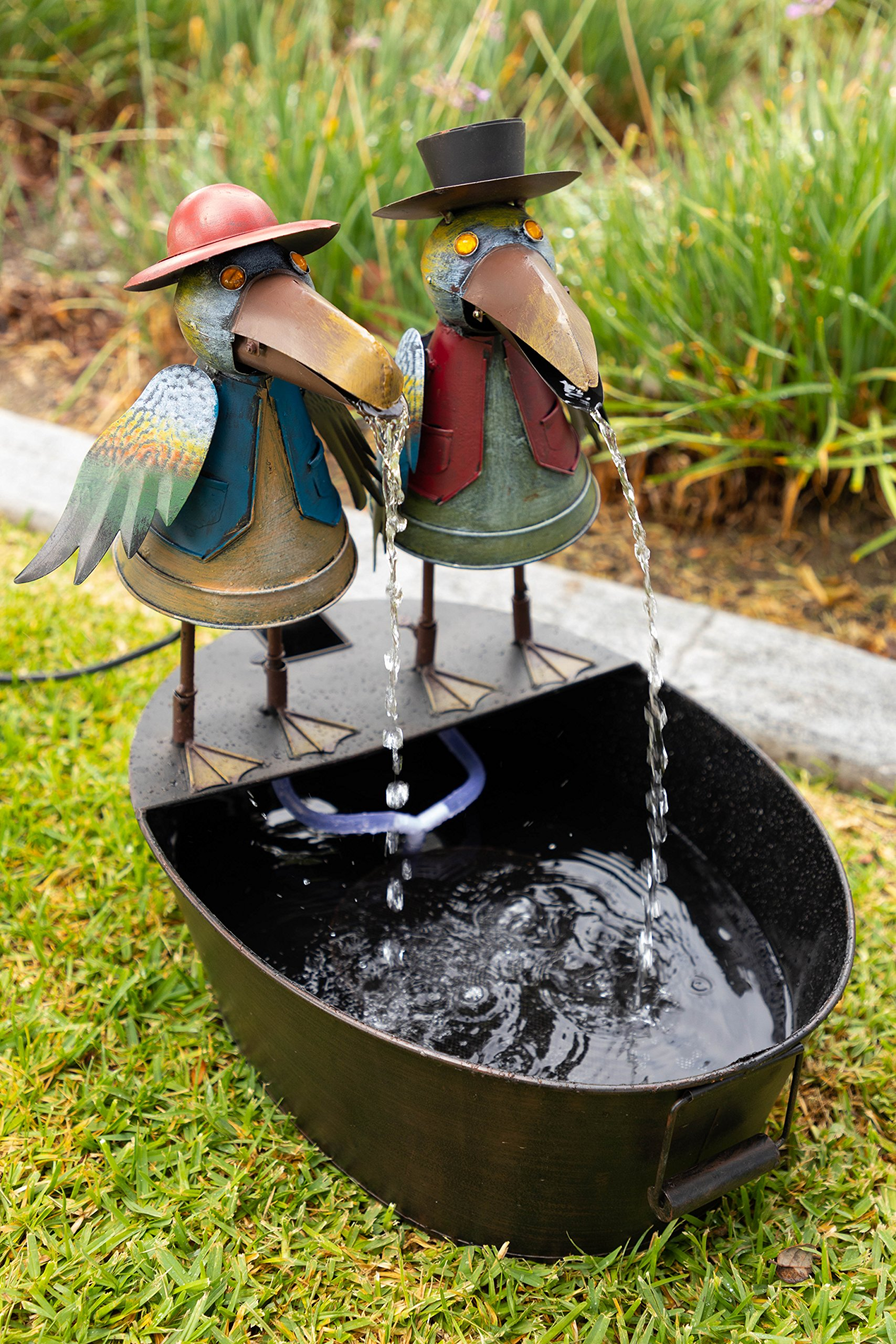 Alpine Corporation NCY298 Metal Crow Fountain