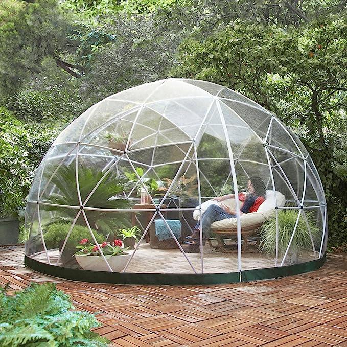 Garden Igloo – Jardín de Invierno translúcido 360 x 360 x 220 cm: Amazon.es: Jardín