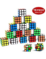 "Nunki Toy Party Puzzle Toy,18 Pack Mini Cubes Set Party Favors Cube Puzzle, 1.18"" Puzzle Magic Cube Eco-friendly Safe Material with Vivid Colors,Party Puzzle Game for Boys Girls Kids Toddlers"