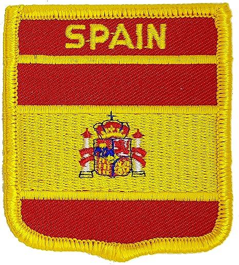 Bandera de España bordada para planchar o coser en parches, diseño de bandera nacional de España