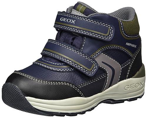 Geox B Rishon C, Zapatillas para Bebés, Azul (Navy/Military), 25 EU