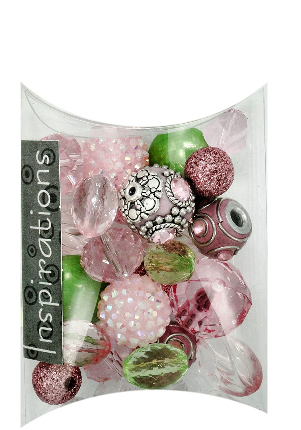 Jesse James Beads Pink/Green Inspirations Beads 50g-Secret Garden Jesse James & Co. Inc. 5734