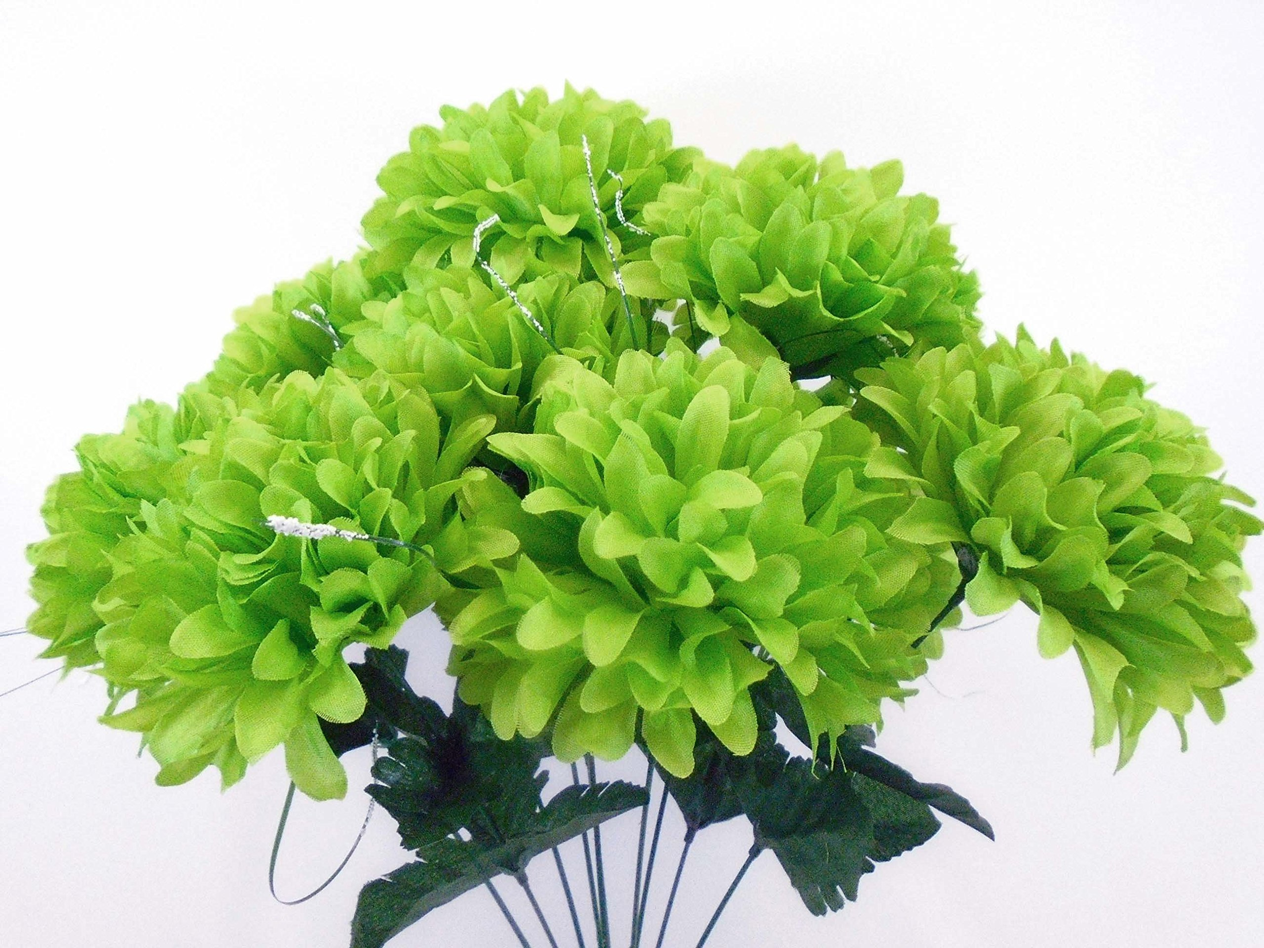 Amazon Chrysanthemum Mum Ball Bush 10 Artificial Silk Flowers